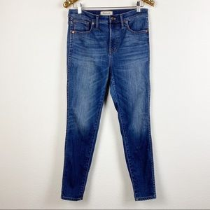 """Madewell • 10"""" High-Rise Skinny Jeans Danny Wash"""